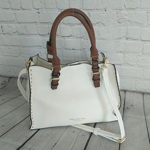 Andrew Marc | Studded Sand Zoey Unlined White Tote